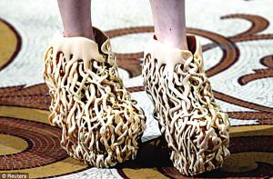 ▲3D打印的鞋子。
