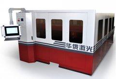 华俄激光推出全封闭双驱交换工作台YAG固体激光切割机