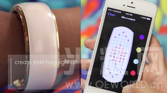 智能LED手环又添新贵:Elemoon专为女性打造