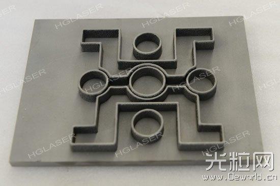 3D打印华工激光LOGO