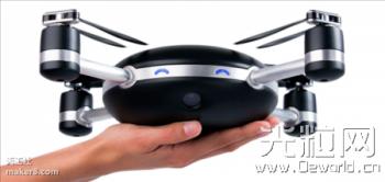 使用3D打印技术开发的黑酷飞行相机Lily