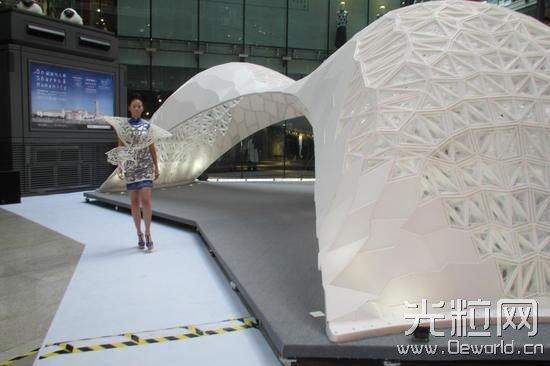 """世界最大3D打印建筑""""蘑菇云""""亮相北京"""