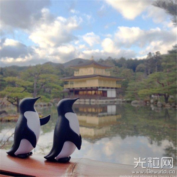 带上可爱的3D打印企鹅去日本旅行