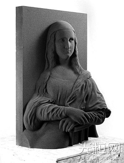 """3D打印""""蒙娜丽莎的微笑"""" 让盲人也能欣赏艺术名作"""