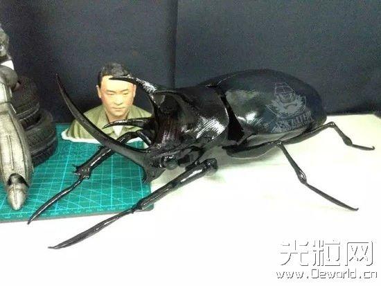 吓死人不偿命 3D打印甲虫让人真假难辨
