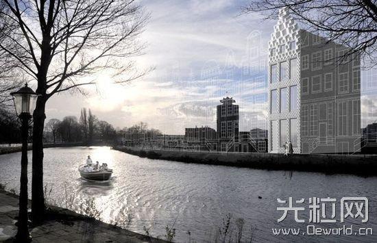 "DUS Architects 的 3D 打印""运河住宅""项目正在进行中,预计于 2017 年完成"