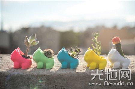 让可爱的动物搭配萌萌的绿植