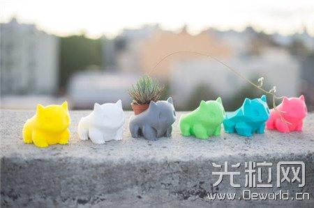 超萌3D打印动物花盆