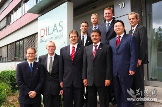 杨林(右二)曾担任德国DILAS中华区总监