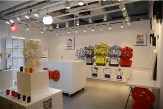 Hello Kitty 3D打印概念店现身上海滩