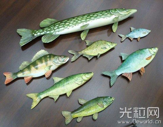波兰博物馆3D打印绚丽多彩的逼真鱼类