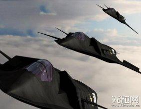 全频段隐身配激光炮:中国第6代战机CG概念图