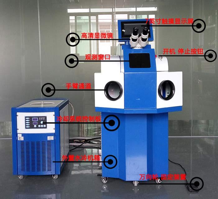 激光点焊机(一体式)结构图