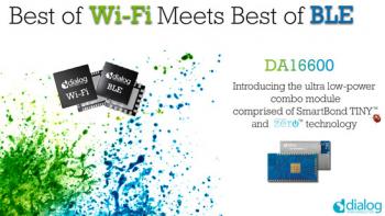 Dialog半导体推出DA16600模块,专为电池供电的IoT应